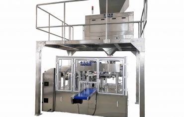 Automatic pre-made stand up pouch packaging machine