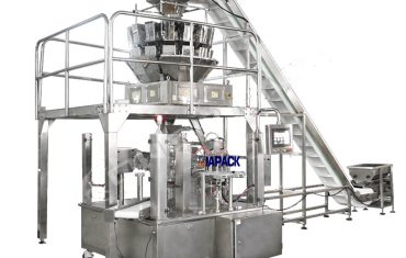 Automatic rotary doy bag with zipper  packing sealing machine