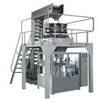 Automatic granule weighing filling rotary packing machine for pre-made bag